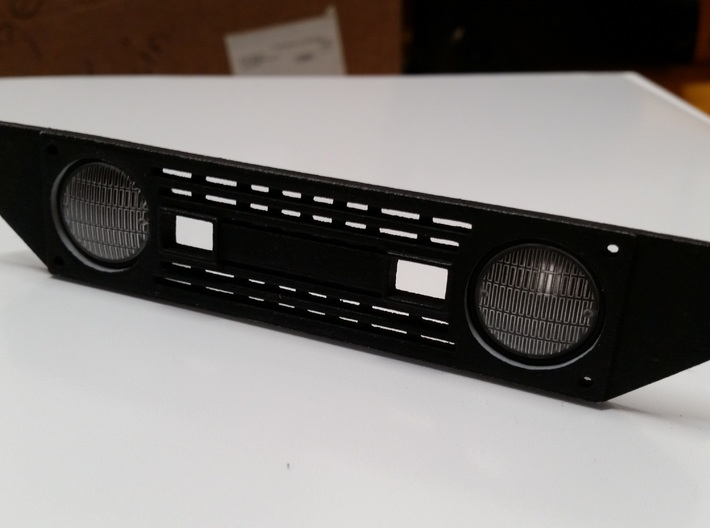 Axial SCX10 Deadbolt Front Grill 3d printed Painted Flat Black with Axial Headlights (not included)