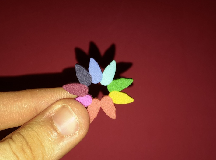 Happy and colourful flower/ Flor alegre y colorida 3d printed