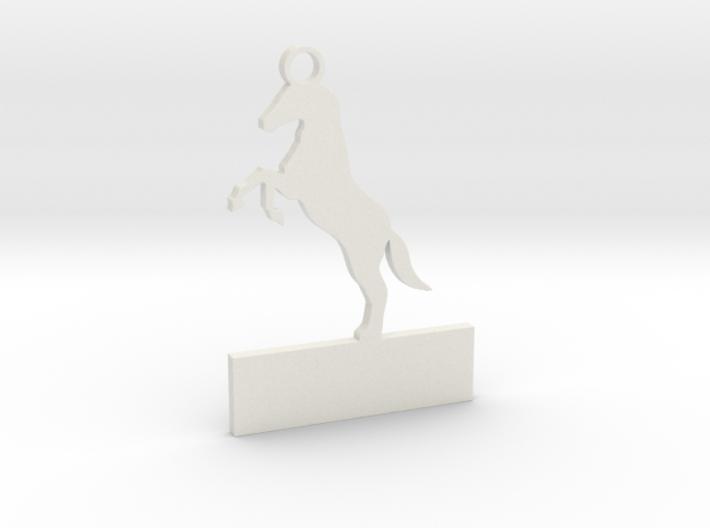Custom horse keychain 3d printed