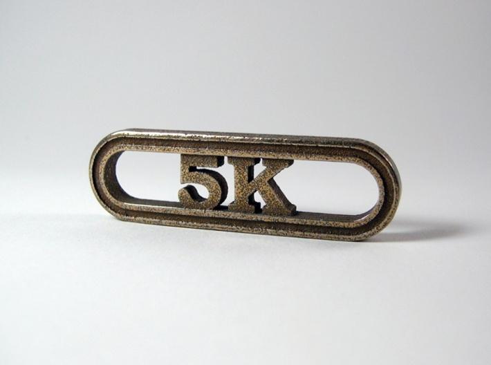 5K Runner's Keychain 3d printed 5K Key Chain