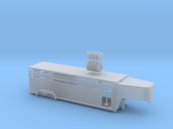 1/64 26' Cattle Trailer Round Nose 3d printed