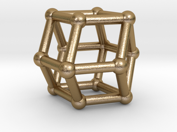 0293 Rhombic Dodecahedron V&E (a=1cm) #002 3d printed