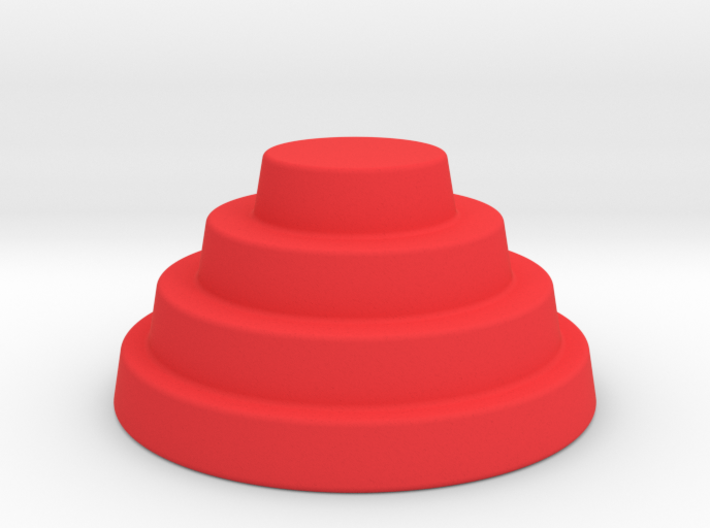 Devo Hat biggest size coloured 150mm 3d printed