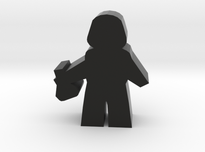 Agent Scientist Meeple, with Flask 3d printed