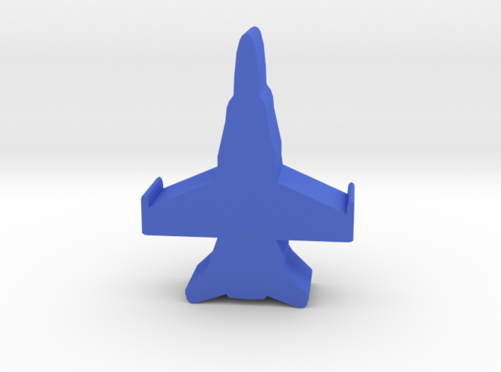 Game Piece, Blue Force Hornet Fighter 3d printed