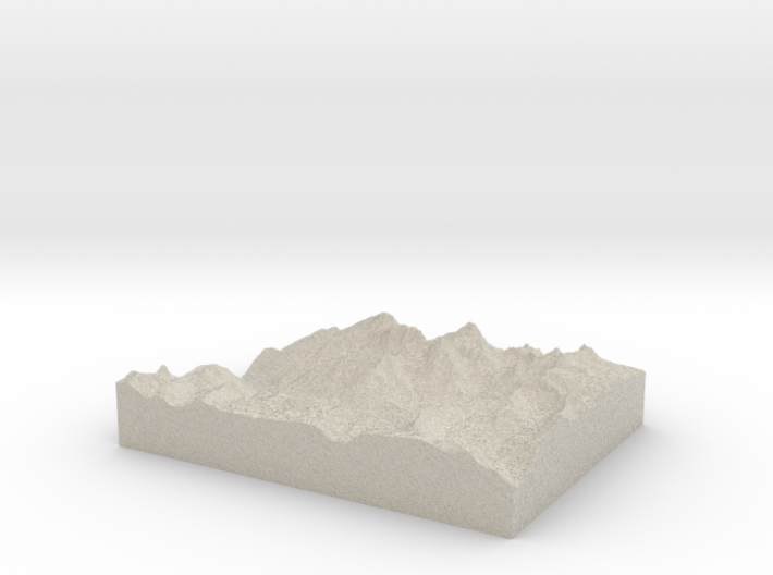 Model of Needle Mountains 3d printed