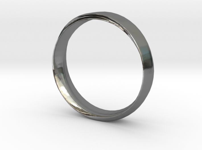 Mobius Ring with Groove Size US 9.75 3d printed