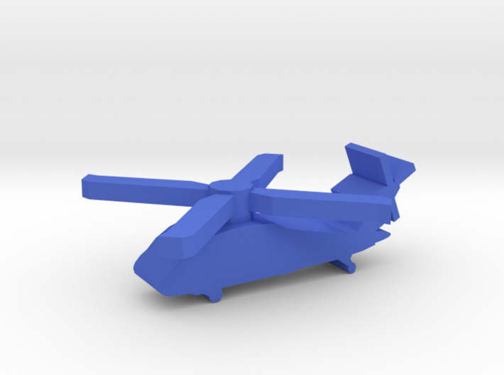 Game Piece, Blue Force Blackhawk Heli 3d printed