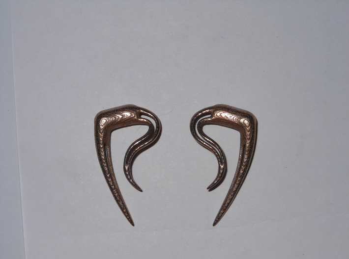 Earrings Tribalspike 2g 3d printed