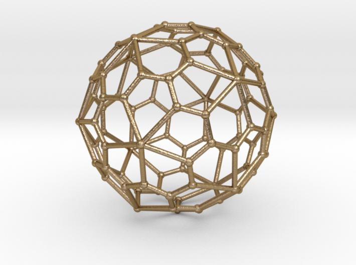 0320 Pentagonal Hexecontahedron V&E (a=1cm) #002 3d printed