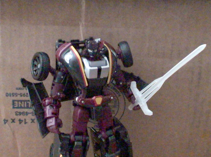 Botcon Laser Rod Electrons/Electro 4.5mm Sword 3d printed In Hand