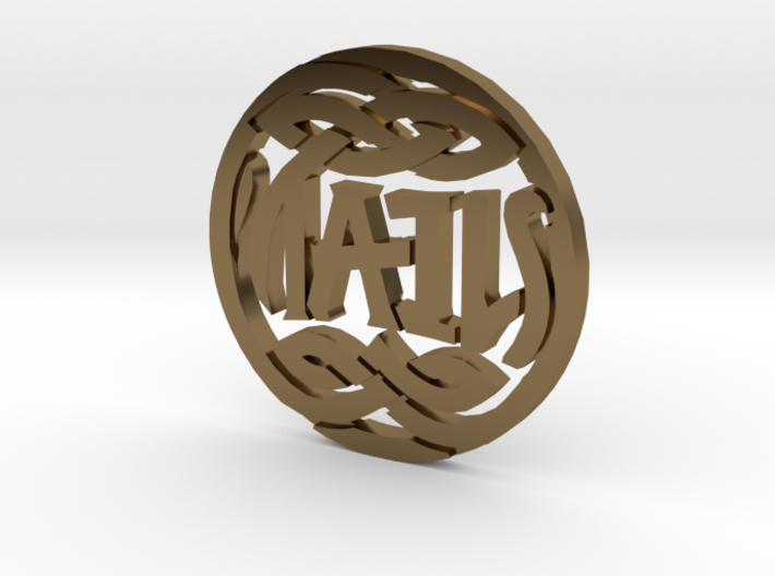 Heads and Tails Ambigram Coin 3d printed