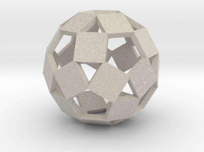 Open Rhombicosadodecahedron-Sandstone 3d printed