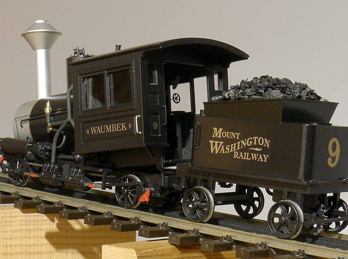 Cog Railway Tender - O Scale  3d printed Painted and detailed model of locomotive and tender by Warren Disbrow.