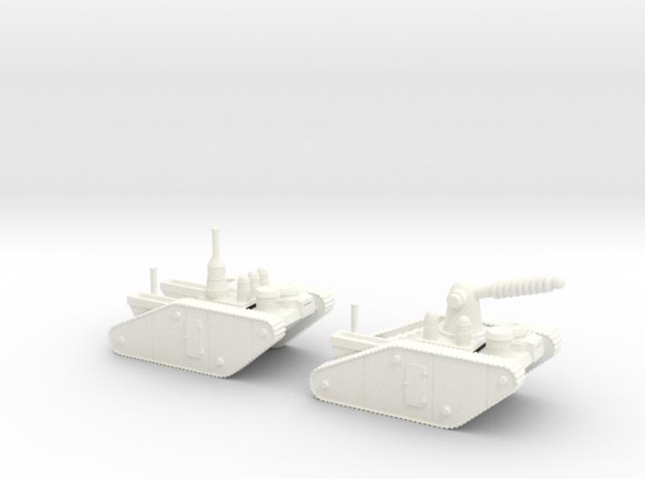 15mm AQMF EDISON / TESLA LIGHTNING TANK MK II 3d printed