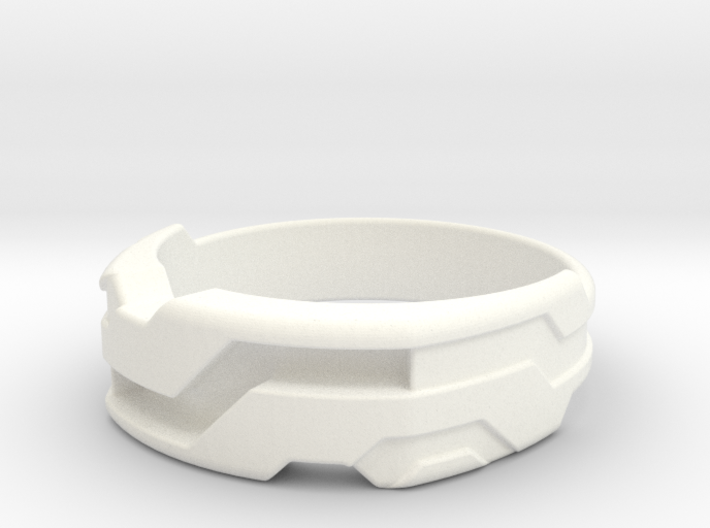 US16 Ring XXI: Tritium (Silver) 3d printed