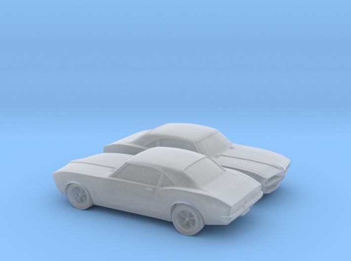 1/160 2X 1967-69 Pontiac Firebird 3d printed