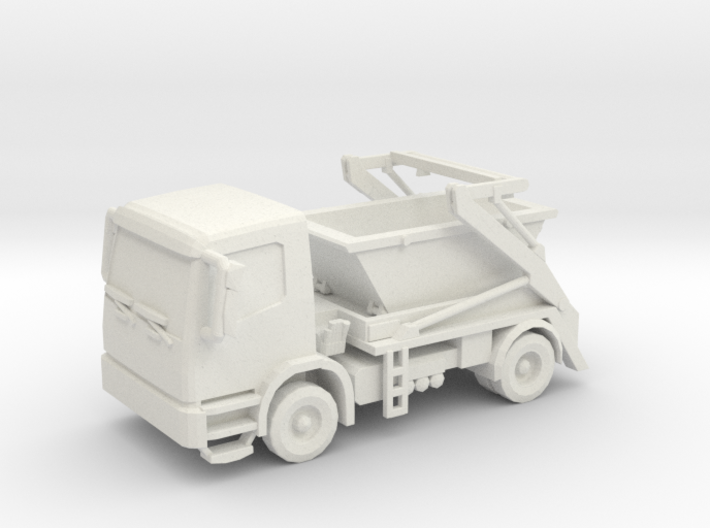 Truck & Container 01. HO Scale (1:87) 3d printed