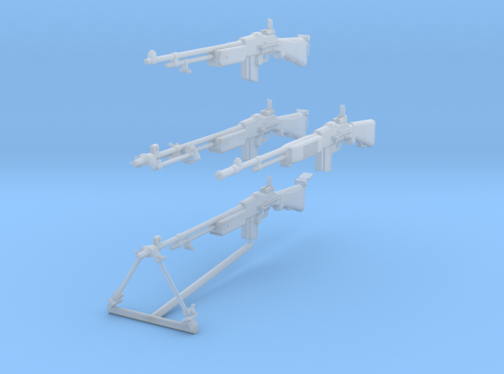 1-16 BAR 1918A2 WWII Set 3d printed
