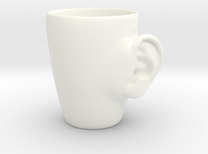 Coffee mug #3 XL - Real ear 3d printed