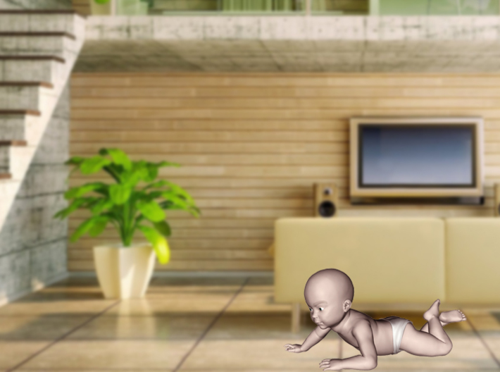 3D Crawling Baby 3d printed 3D Crawling Baby