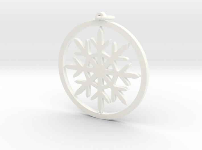 Gyroscopic Snowflake Ornament 80mm 3d printed