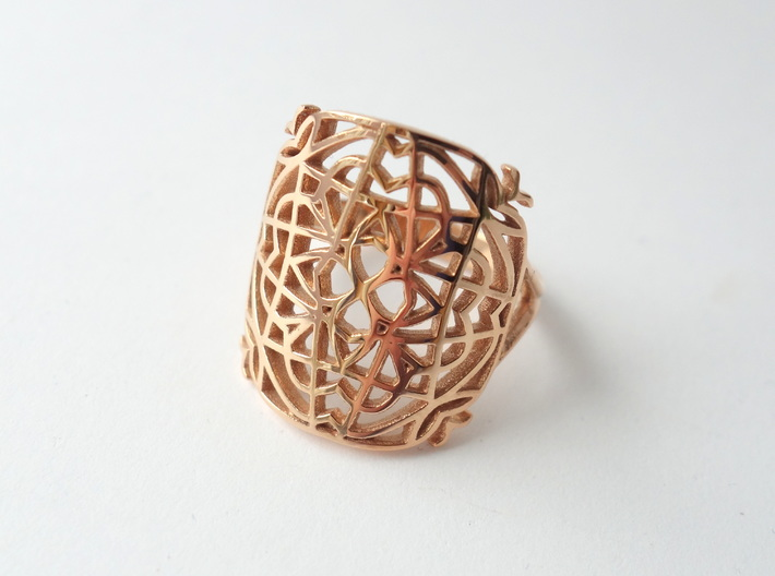 Medieval Lace Ring - Size 8.5 3d printed
