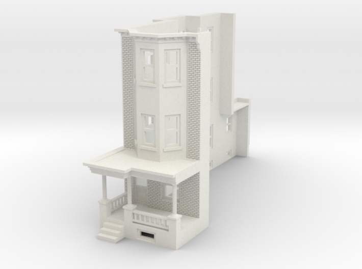 WEST PHILLY 3S ROW HOME 160 BrickLD 3d printed