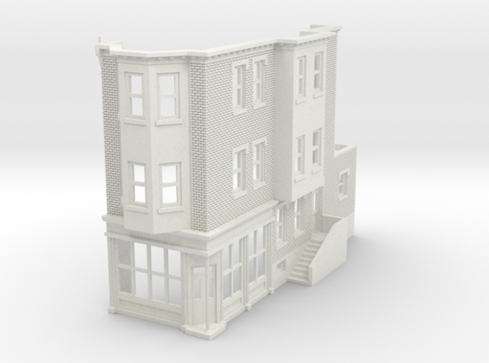 WEST PHILLY 3S ROW STORE CORNER R 160 Brick 3d printed
