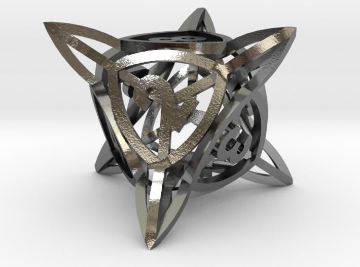 'Center Arc' dice, D8 balanced gaming die 3d printed