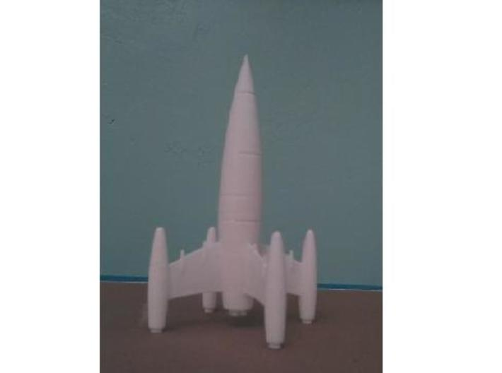 Four Finned Rocket 3d printed