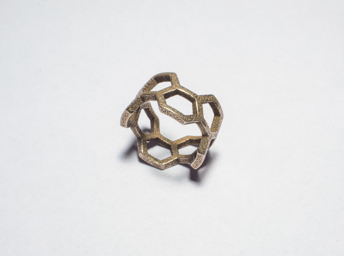 Honey Ring 3d printed Stainless Steel