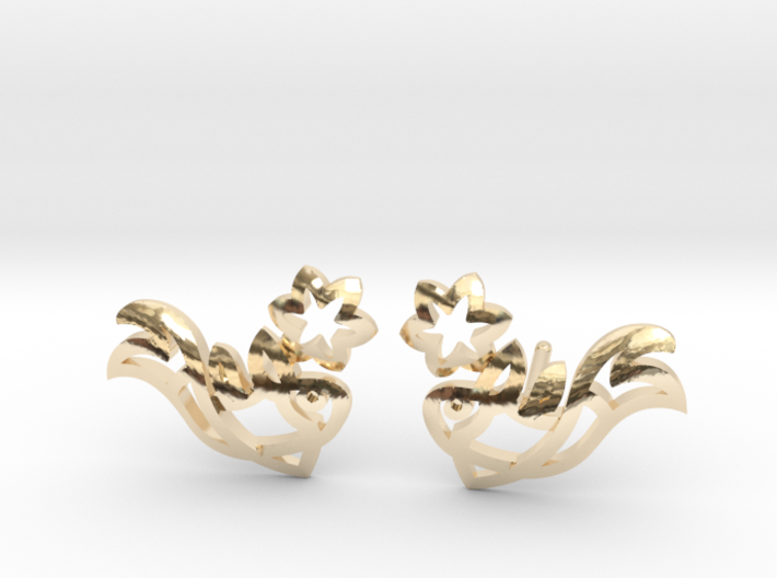Earring 'Koi-fish' - Buddhist Symbol of Courage 3d printed