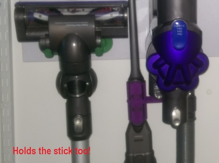 Mount - Dyson Large Motorhead - Regular version 3d printed Holds the Head & wand while using other tools