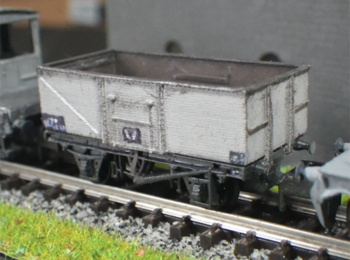 """Steel-built 13t Private Owner Coal Wagon 3d printed Post-nationalisation livery. The non-opening end, 0.25 mm brass """"commode handles"""""""