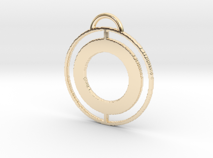 Circular Keychain 3d printed