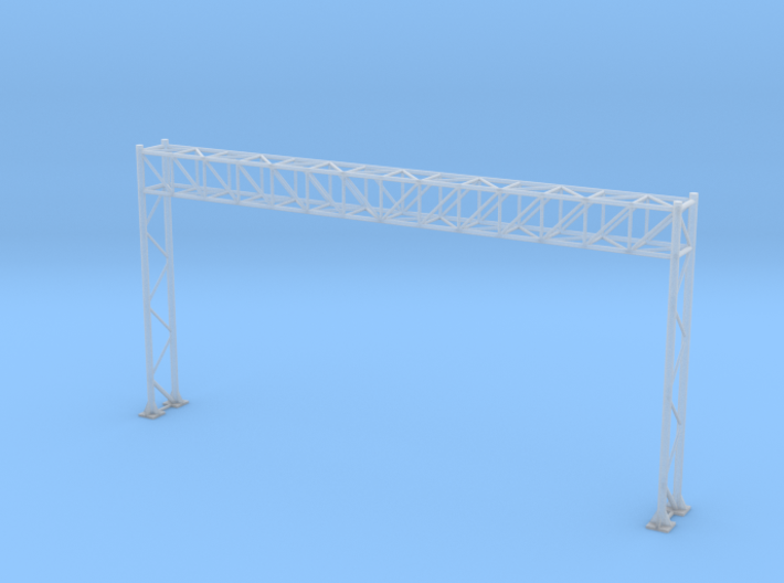HO Scale Sign Gantry 149mm 3d printed