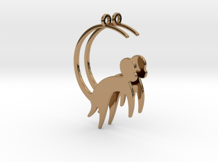 Cute Monkey Earrings 3d printed