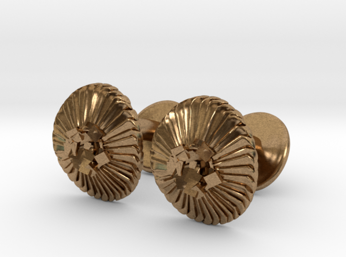 Coccolithus Cufflinks - Science Jewelry 3d printed