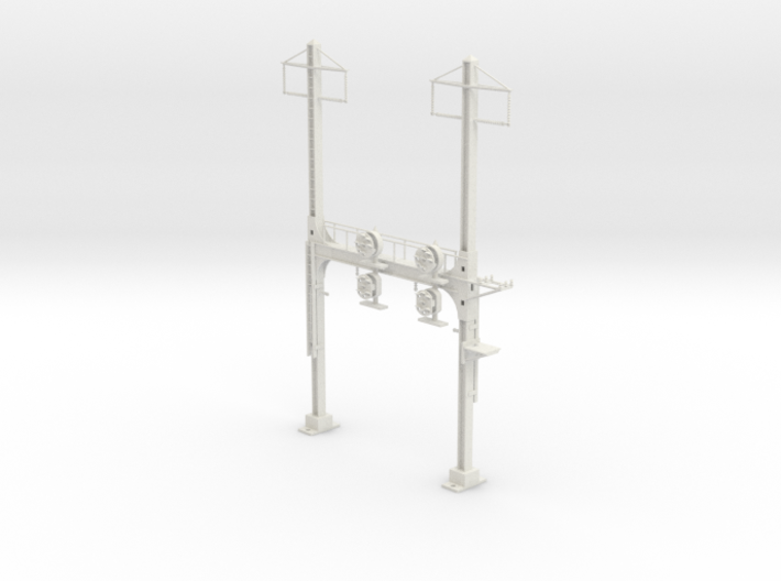 HO Scale PRR W--signal Beam 2 Track W 2 PHASE R 3d printed