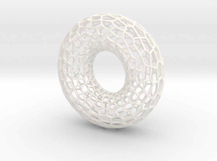 Voronoi Torus (Large) 3d printed