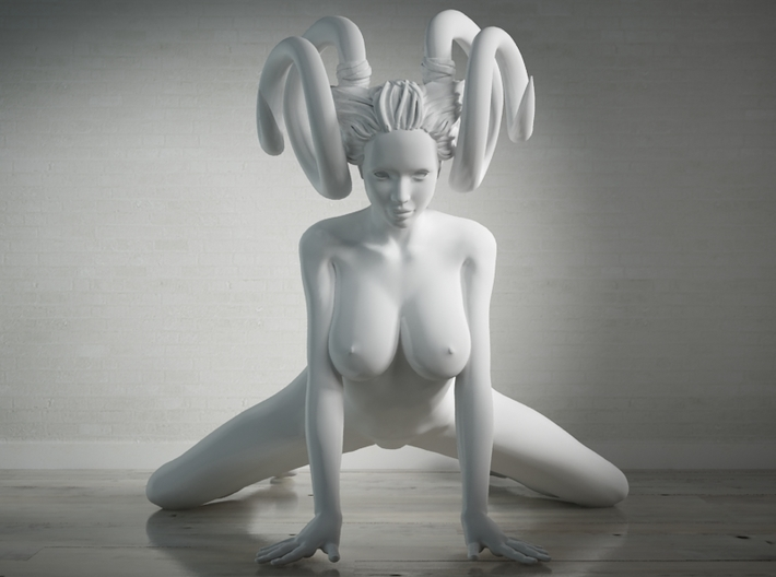 Evil Girl-002-Scale 1/24 3d printed
