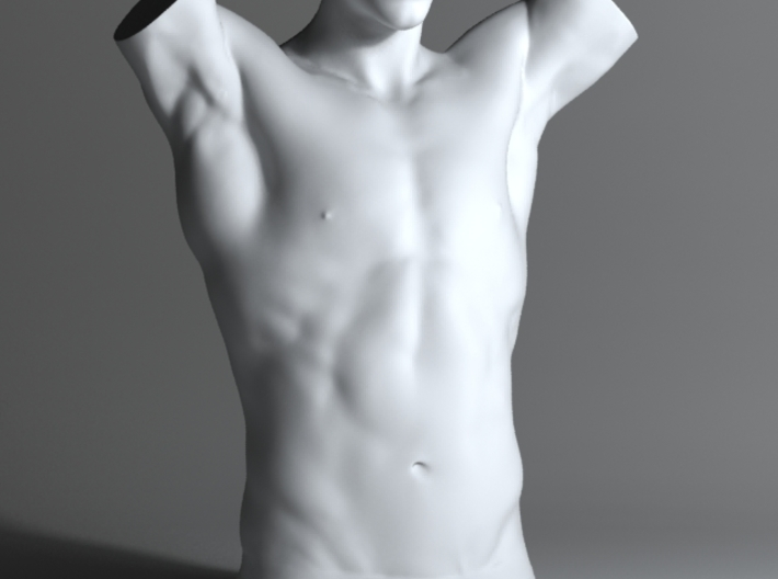Man Body Part 003 scale in 4cm 3d printed