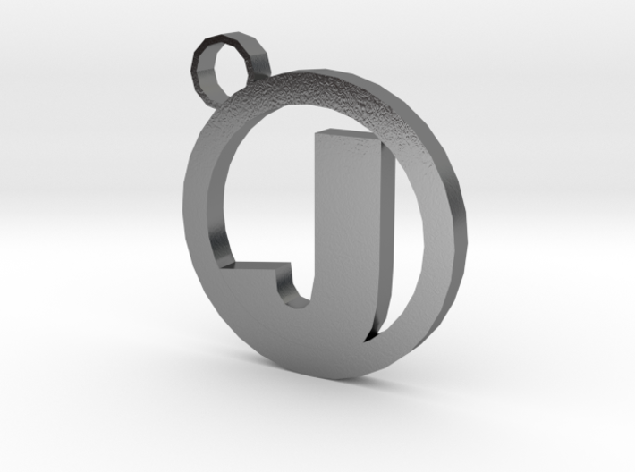 Keychain with your letter 3d printed