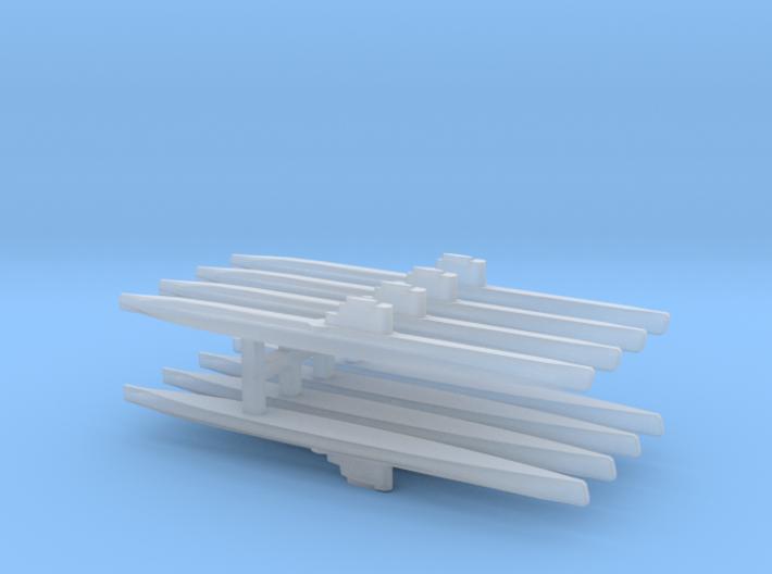 Whiskey-class submarine x 8, 1/2400 3d printed