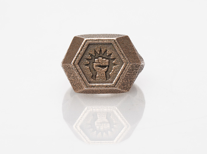 Magic: The Gathering Boros Ring(US Size 12) 3d printed Stainless Steel