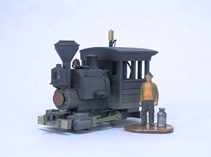 HOn30 Porter Saddle Tank and Boiler 3d printed