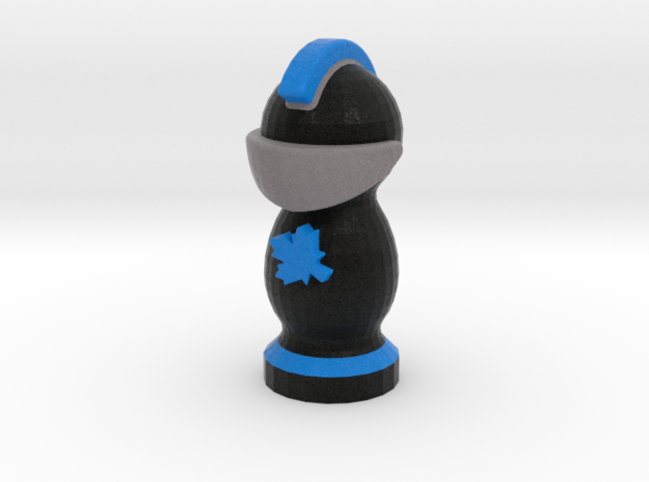 Catan Robber Knight Blk Blu Maple Leaf 3d printed