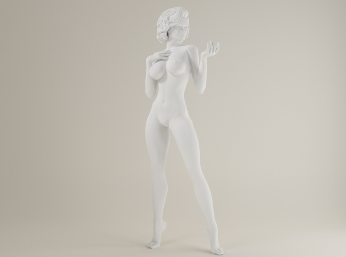 1:32 Short Haired Girl-001 3d printed