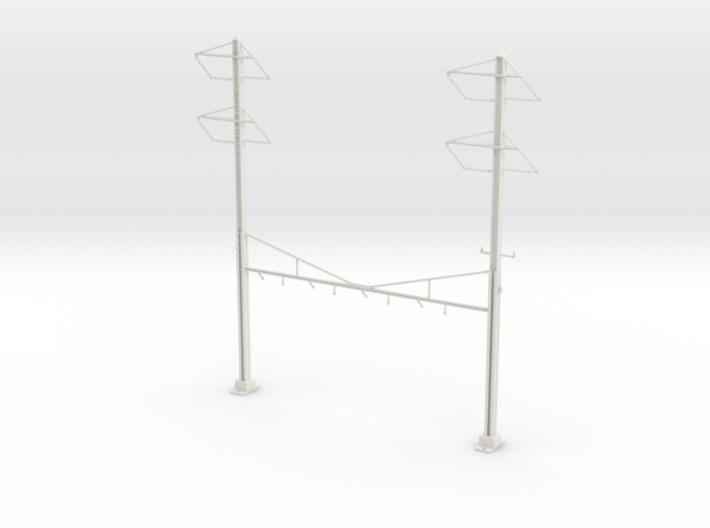 HO Scale PRR K Braced 4 Track Y BRACKET 2-2PH 3d printed